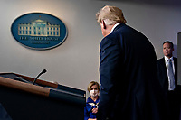 United States President Donald J. Trump leaves after speaking during a news conference in the Brady Press Briefing Room of the White House in Washington, D.C., U.S., on Friday, May 22, 2020. Trump ordered states to allow churches to reopen from stay-at-home restrictions imposed to combat the coronavirus outbreak, saying he would override any governor who refuses. <br /> Credit: Andrew Harrer / Pool via CNP/AdMedia