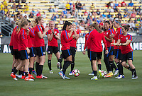 Columbus, OH - September 14, 2016: The USWNT trained for their friendly against Thailand at MAPFRE stadium.