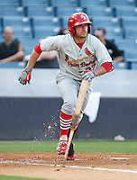 May 20, 2010 Infielder Colt Sedbrook of the Palm Beach Cardinals, Florida State League Class-A affiliate of the St.Louis Cardinals, during a game at George M. Steinbrenner Field in Tampa, FL. Photo by: Mark LoMoglio/Four Seam Images