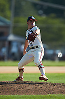 High Point-Thomasville HiToms starting pitcher Avery Cain (1) (King) in action against the Statesville Owls at Finch Field on July 19, 2020 in Thomasville, NC. The HiToms defeated the Owls 21-0. (Brian Westerholt/Four Seam Images)