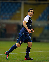 Carlos Bocanegra  (USA), during the friendly match Italy against USA at the Stadium Luigi Ferraris at Genoa Italy on february the 29th, 2012.
