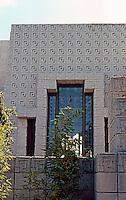 F.L. Wright: Ennis-Brown House. Detail.  Photo '82.