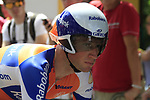 Mark Renshaw (AUS) Rabobank waits to start the Prologue of the 99th edition of the Tour de France 2012, a 6.4km individual time trial starting in Parc d'Avroy, Liege, Belgium. 30th June 2012.<br /> (Photo by Eoin Clarke/NEWSFILE)