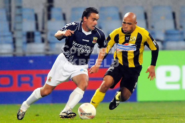 voetbal bv veendam - go ahead eagles jupiler leaque seizoen 2008-2009 10-10-2008 marc overmars met angelo cijntje.