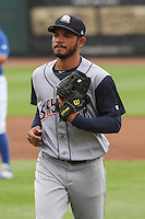 Colorado Springs Sky Sox infielder Luis Sardinas (2) during a Pacific Coast League game against the Iowa Cubs on May 10th, 2015 at Principal Park in Des Moines, Iowa.  Iowa defeated Colorado Springs 14-2.  (Brad Krause/Four Seam Images)