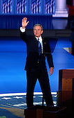 New York, NY - September 2, 2004 --  United States President George W. Bush accepts his party's nomination at the 2004 Republican Convention in Madison Square Garden in New York on Thursday, September 2, 2004.  In his remarks, the President spoke about where he wants to lead the United States for the next four years.  .Credit: Ron Sachs / CNP.(RESTRICTION: No New York Metro or other Newspapers within a 75 mile radius of New York City)