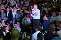 Presidential candidate for the opposition coalition  Cambiemos (We change)  s during a rally campaign in Lanus, a suburb of Buenos Aires city. Macri, mayor of Buenos Aires city, appears second in the polls for Sunday October 25 natioanl election in Argentina
