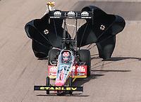 Feb 23, 2014; Chandler, AZ, USA; NHRA top fuel dragster driver Doug Kalitta during the Carquest Auto Parts Nationals at Wild Horse Motorsports Park. Mandatory Credit: Mark J. Rebilas-USA TODAY Sports