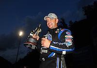 Jun. 19, 2011; Bristol, TN, USA: NHRA funny car driver Robert Hight celebrates after winning the Thunder Valley Nationals at Bristol Dragway. Mandatory Credit: Mark J. Rebilas-