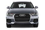 Car photography straight front view of a 2015 Audi Q3 Sport 5 Door SUV