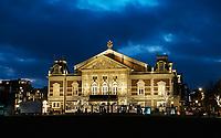 Nederland  Amsterdam 14 december 2020.  Het Concertgebouw bij het Museumplein.   Foto : ANP/ HH / Berlinda van Dam