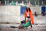 Pic Kenny Smith, Kenny Smith Photography.6 Bluebell Grove, Kelty, Fife, KY4 0GX .Tel 07809 450119, .The T in the Park clean up begins as revellers leave the Balado site today after another successful weekend
