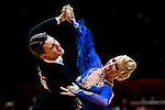 Dmitry Zharkov and Olga Kulikova of Russia during the WDSF GrandSlam Standard on the Day 2 of the WDSF GrandSlam Hong Kong 2014 on June 01, 2014 at the Queen Elizabeth Stadium Arena in Hong Kong, China. Photo by AItor Alcalde / Power Sport Images