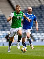22nd May 2021; Hampden Park, Glasgow, Scotland; Scottish Cup Football Final, St Johnstone versus Hibernian;  Ryan Porteous of Hibernian gets away from Chris Kane of St Johnstone
