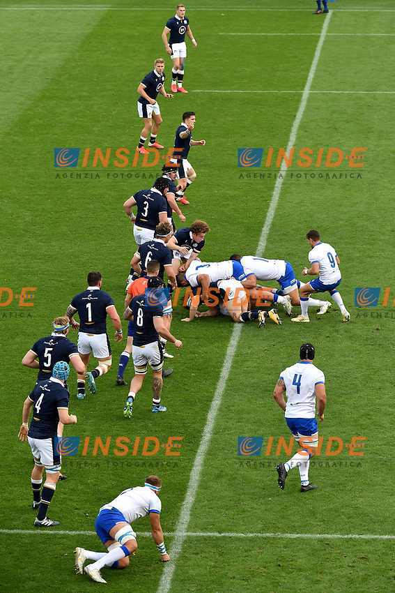 A phase of the match of the rugby Autumn Nations Cup's match between Italy and Scotland at Stadio Artemio Franchi on November 14, 2020 in Florence, Italy. Photo Andrea Staccioli / Insidefoto