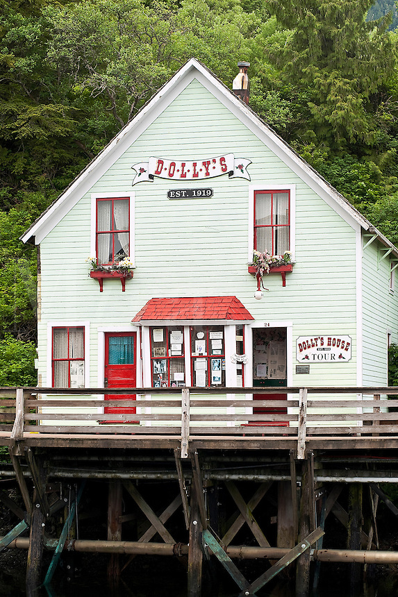 Dolly's gold rush brothel (inactive) turned tourist attraction, Ketchikan, AK, Alaska