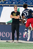 FOXBOROUGH, UNITED STATES - AUGUST 20: Philadelphia Union coach Jim Curtin during a game between Philadelphia Union and New England Revolution at Gilette on August 20, 2020 in Foxborough, Massachusetts.