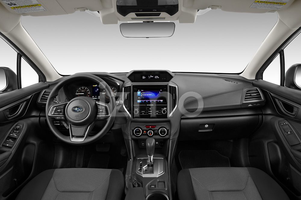 Stock photo of straight dashboard view of 2021 Subaru Crosstrek - 5 Door SUV Dashboard