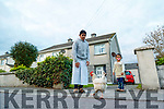 Alisha Muhammad and Muhammad Adnan pictured with their pet chicken in Clash west Tralee.
