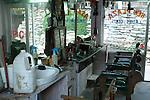 New Plaza barbers shop in Vashisht, Himachal Pradesh, India.