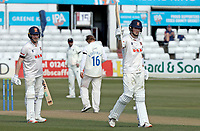 Ben Allison celebrates scoring fifty runs during Essex CCC vs Durham CCC, LV Insurance County Championship Group 1 Cricket at The Cloudfm County Ground on 17th April 2021