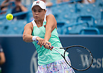 August 17,2018:   Ashleigh Barty (AUS) loses to Simona Halep (ROU) 7-5, 6-4, at the Western & Southern Open being played at Lindner Family Tennis Center in Mason, Ohio.  ©Leslie Billman/Tennisclix/CSM