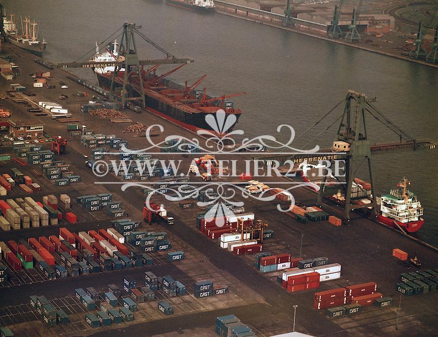 Juni 1978. Hessenatie in de Haven van Antwerpen.