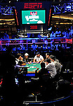 A view of the ESPN TV Feature Table on Day 1C.