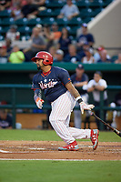 Clearwater Threshers Deivy Grullon (10) bats during the Florida State League All-Star Game on June 17, 2017 at Joker Marchant Stadium in Lakeland, Florida.  FSL North All-Stars defeated the FSL South All-Stars  5-2.  (Mike Janes/Four Seam Images)