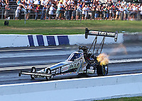 Jun. 1, 2013; Englishtown, NJ, USA: NHRA top fuel dragster driver Brittany Force during qualifying for the Summer Nationals at Raceway Park. Mandatory Credit: Mark J. Rebilas-
