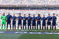 DENVER, CO - JUNE 3: USA starting eleven during a game between Honduras and USMNT at EMPOWER FIELD AT MILE HIGH on June 3, 2021 in Denver, Colorado.