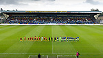 St Johnstone v Galatasaray…12.08.21  McDiarmid Park Europa League Qualifier<br />The teams line up before kick off, the St Johnstone team are pictured from left, Jason Kerr, Zander Clark, Liam Craig, Callum Booth, James Brown, Liam Gordon; Jamie McCart, Michael O'Halloran, Chris Kane, Ali McCann and Murray Dvaidson.<br />Picture by Graeme Hart.<br />Copyright Perthshire Picture Agency<br />Tel: 01738 623350  Mobile: 07990 594431