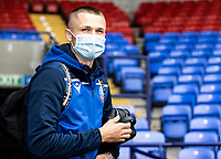 Bolton Wanderers' Adam Senior arriving at the ground<br /> <br /> Photographer Andrew Kearns/CameraSport<br /> <br /> The EFL Sky Bet League Two - Bolton Wanderers v Oldham Athletic - Saturday 17th October 2020 - University of Bolton Stadium - Bolton<br /> <br /> World Copyright © 2020 CameraSport. All rights reserved. 43 Linden Ave. Countesthorpe. Leicester. England. LE8 5PG - Tel: +44 (0) 116 277 4147 - admin@camerasport.com - www.camerasport.com