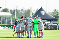 LAKE BUENA VISTA, FL - JULY 13: Michael Bradley #4 of Toronto FC and team before the game during a game between D.C. United and Toronto FC at Wide World of Sports on July 13, 2020 in Lake Buena Vista, Florida.
