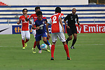 JSW Bengaluru FC (India) FW Sunil Chhetri (CHHETRI) trying to cutout defense (C) during match AFCCQF1 – AFC Cup 2016 Quarter Finals<br /> JSWBENGALURUFC(IND) – JSW Bengaluru FC (India)<br /> vs<br /> TAMPINESROVERS(SIN) – Tampines Rovers (Singapore)<br /> at Kanteerava Stadium, Bangalore, Karnataka on 14th Septembar 2016.<br /> Photo by Saikat Das/Lagardere Sports