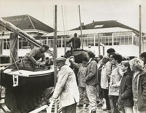 Waverley launch at Ballyholme YC circa 1973