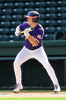 Infielder Steve Wilkerson (17) of the Clemson Tigers in a fall Orange & Purple intrasquad scrimmage on November 2, 2013, at Fluor Field at the West End in Greenville, South Carolina. Orange won 7-1.(Tom Priddy/Four Seam Images)