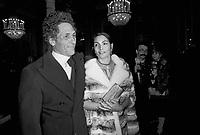 - Giorgio Falck, steel tycoon, with his wife, the actress Rosanna Schiaffino, at the inauguration of the lyric season of La Scala theater in Milan <br /> <br /> - Giorgio Falck, industriale dell'acciaio, con la moglie, l'attrice Rosanna Schiaffino, all'inaugurazione della stagione lirica del teatro alla Scala di Milano