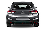 Straight rear view of 2021 Hyundai i30-Fastback-N - 5 Door Hatchback Rear View  stock images
