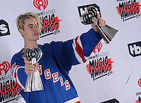 Justin Bieber @ the 2016 iHeart Radio Music awards held @ the Forum.<br /> April 3, 2016