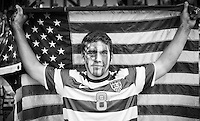 Kansas City, MO - Thursday, Oct 11, 2013: USMNT Fan up before qualifying match with Jamaica.