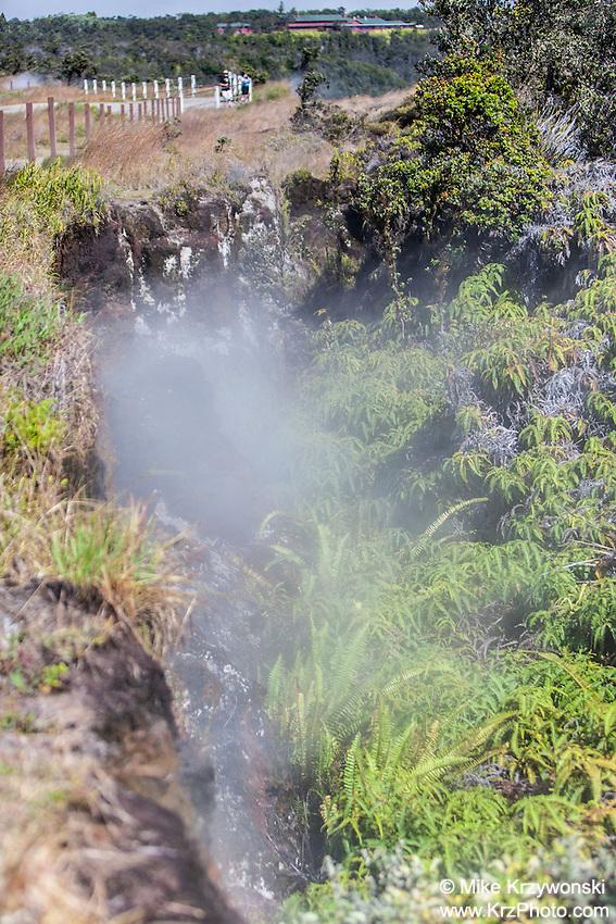 Steam vent at Hawaii Volcanoes National Park, Big Island, Hawaii