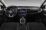 Stock photo of straight dashboard view of 2017 Toyota Hilux Comfort 2 Door Pickup Dashboard