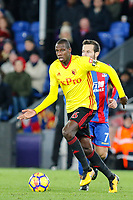 Abdoulaye Doucoure of Watford during the Premier League match between Crystal Palace and Watford at Selhurst Park, London, England on 12 December 2017. Photo by Carlton Myrie / PRiME Media Images.