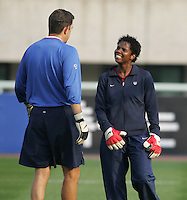 Oct 31, 2006: Cheonan, South Korea:  Phil Wheddon, Briana Scurry