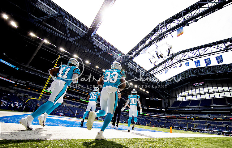 Photography coverage of the Carolina Panthers v. The Indianapolis Colts, during their Sunday afternoon NFL preseason game at Lucas Oil Stadium in Indianapolis, IN.<br /> <br /> Charlotte photographer - Patrick SchneiderPhoto.com