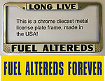 1 each license plate frame and bumper sticker
