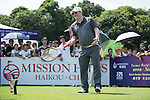 Markus Manninen plays tennis at the 10th hole during the World Celebrity Pro-Am 2016 Mission Hills China Golf Tournament on 22 October 2016, in Haikou, China. Photo by Marcio Machado / Power Sport Images