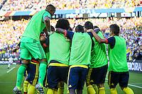 Action photo during the match United States vs Colombia, Corresponding Group -A- America Cup Centenary 2016, at Levis Stadium<br /> <br /> Foto de accion durante e partido Estados Unidos vs Colombia, Correspondiante al Grupo -A-  de la Copa America Centenario USA 2016 en el Estadio Levis, en la foto: James Rodriguez celebra su gol de Colombia<br /> <br /> 03/06/2016/MEXSPORT/German Alegria.