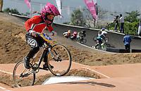 MEDELLIN- COLOMBIA -25-05-2016: Aspecto de las competencias en las categorías infantiles en el marco del Campeonato Mundial de BMX 2016 que se realiza entre el 25 y el 29 de mayo de 2016 en la ciudad de Medellín. / Aspect of competencies in children's categories as part of the 2016 BMX World Championships to be held between 25 and 29 May 2016 in the city of Medellin. Photo: VizzorImage / Cristian Alvarez / CONT